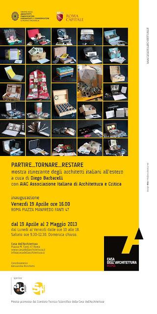 Graziella Trovato e Luis Moya en la exposición Partire_Tornare_Restare