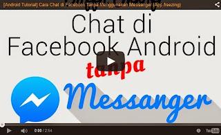 Cara Chatting Facebook Tanpa Aplikasi Messenger
