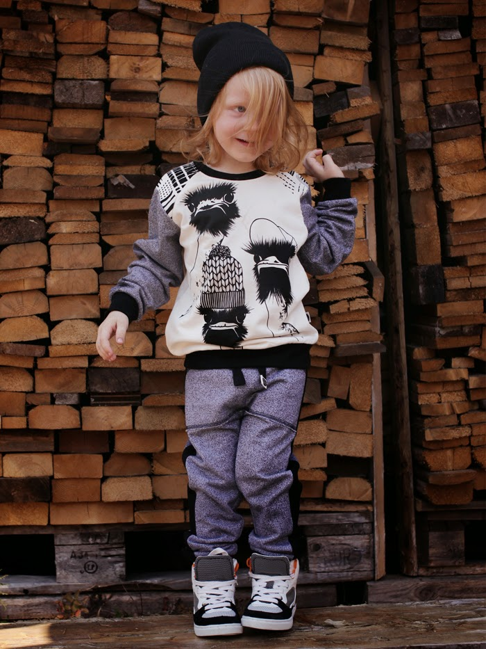 Kids Emu sweatshirt by by Mainio Clothing for autumn 2014 collection