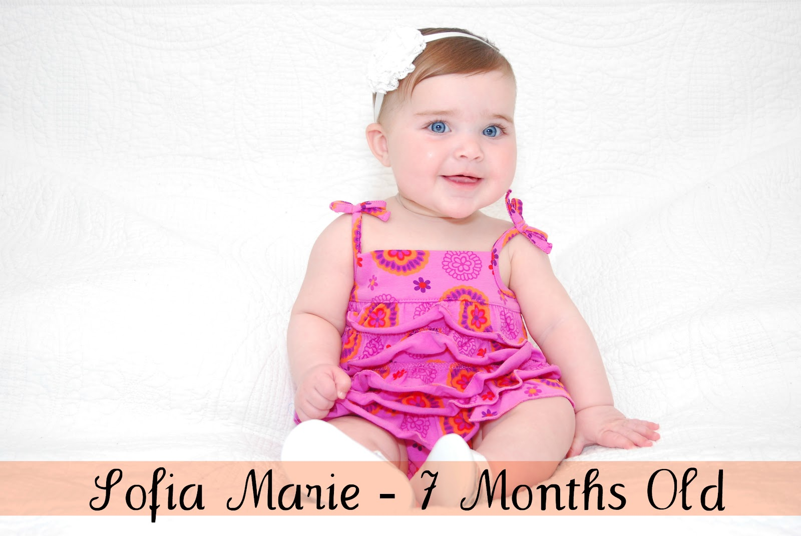 happy 7 months baby girl • little miss mama