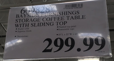Deal for the Bayside Furnishings Storage Cocktail Coffee Table at Costco