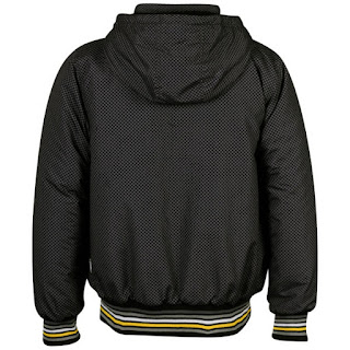 Everlast Men's Hood All Over Print Jacket - Black/Charcoal/Yellow - Espalda