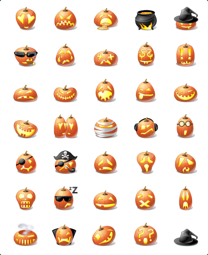 Halloween Pumpkin emoticons
