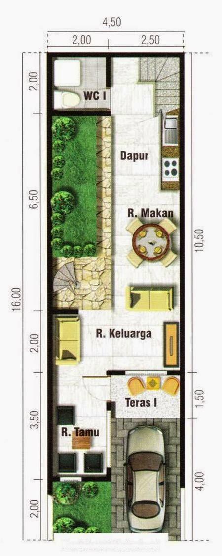 Rumah Minimalis Lebar 5 Meter Rumah Minimalis Lebar 4 Meter