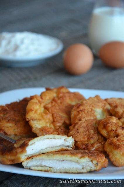 Kurczak w cieście naleśnikowym