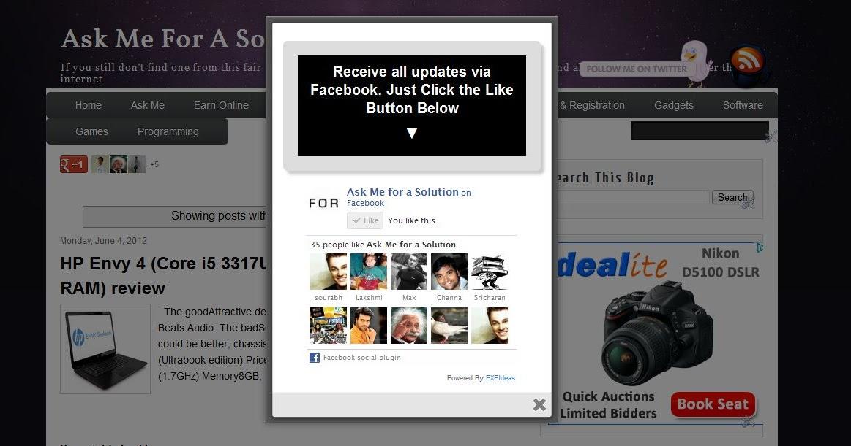 facebook widgets blog website