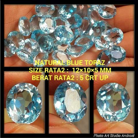Batu Natural Blue Topaz