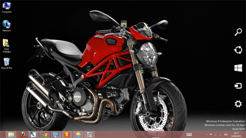 Ducati Monster 1100 Evo 2013 Red Theme For Windows 7 And 8