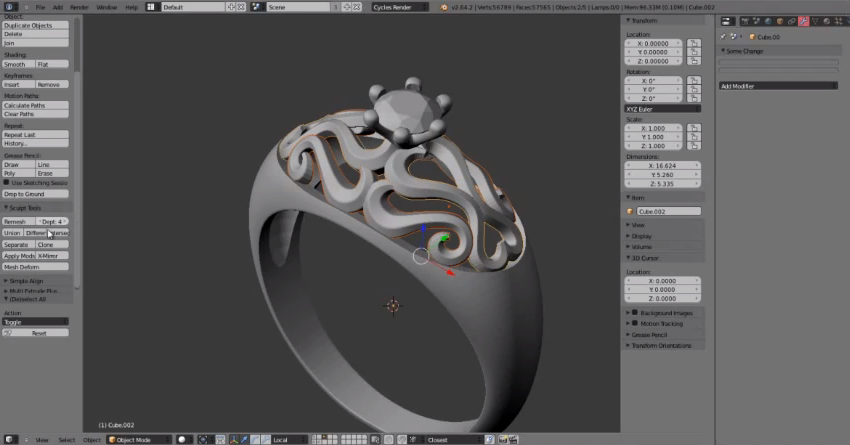 Ancient artifacts 3d printed jewelry Simple 3d modeling online