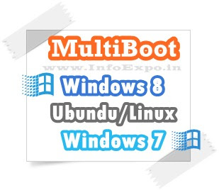 Best solution for the multi-booting Windows 8, Windows 7 and Ubundu together  -- www.infoexpo.in