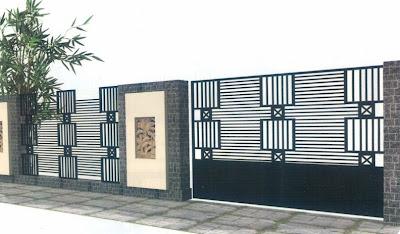 model pagar rumah minimalis, desain pagar sederhana, model pagar elegan, gaya pagar rumah minimalis