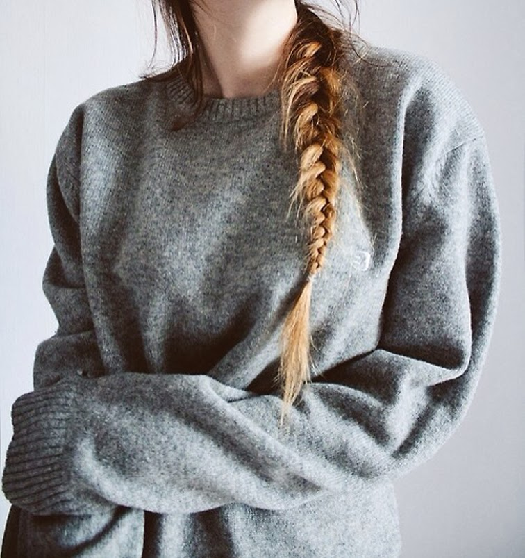 Chunky grey knit