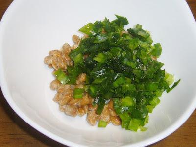 納豆にニラ(生)