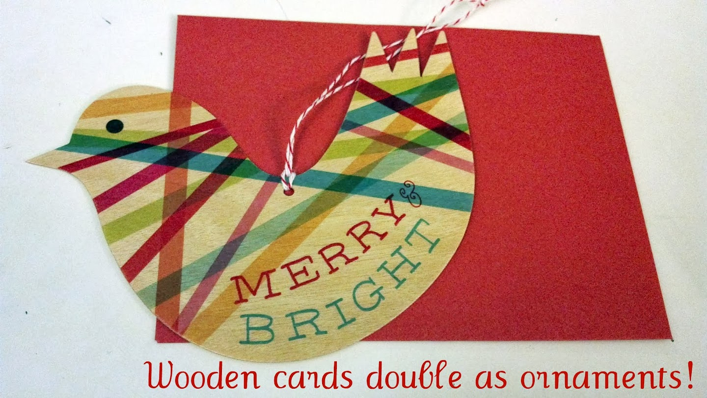 Merry Bird Card Doubles as Christmas Ornament