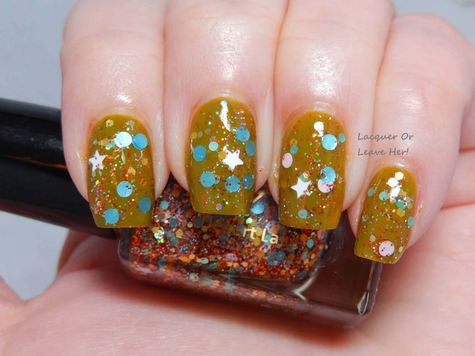 Nayll Desert Lake over China Glaze Budding Romance