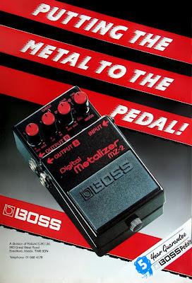 Boss MZ-2 Digital Metalizer advert - UK 1988