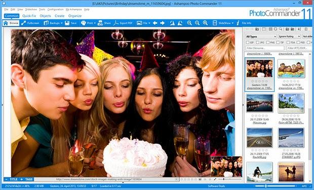 برنامج إحترافي لتنظيم وتحرير وتحسين وعرض الصور في شرائح Ashampoo Photo Commander 11-0-5