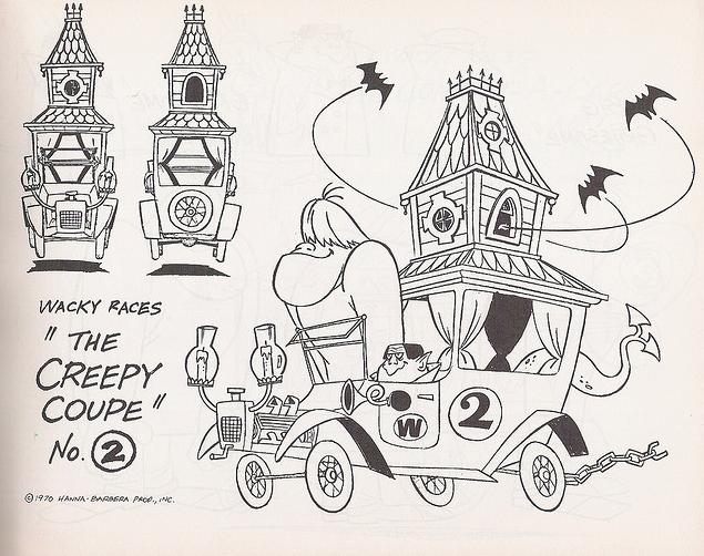 wacky races coloring pages - photo #27