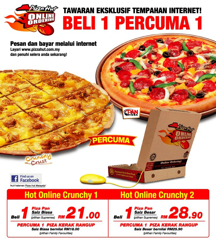 Pizza Hut Buy 1 Free 1...