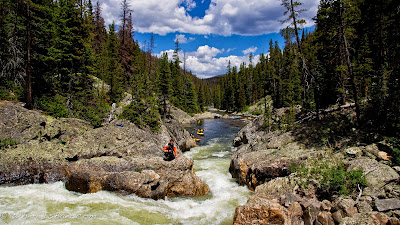 Big South fork of the Cahce le Poudre, Rocky Mountain National Park, kayak, Chris Baer CO
