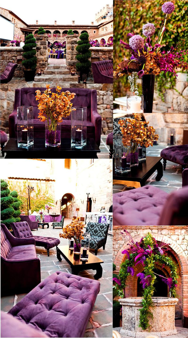 Purple and Gold Wedding Decoration Inspirations