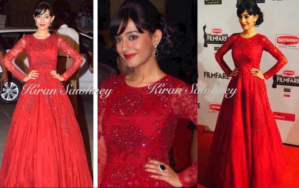 Amrita Rao At Filmfare Awards 2015 in Astha Narang