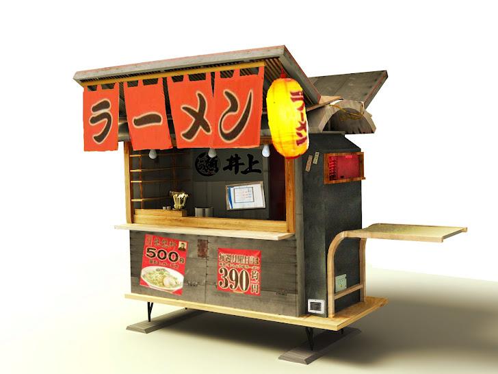 Concept art / ramen stand