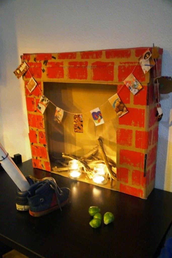 diy fireplace-huisje boompje boefjes