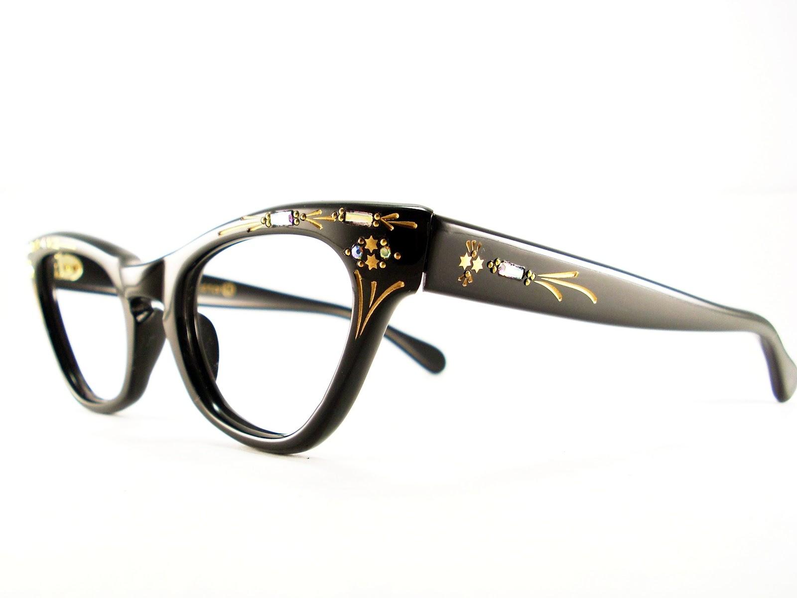 Vintage Eyeglasses Frames Eyewear Sunglasses 50S: CAT EYE ...