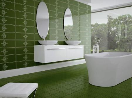 Yesil+banyo+fayans+modeli Modern Fayans çeşitleri