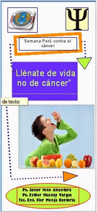 SEMANA PERÚ CONTRA EL CÁNCER 20 AL 24 OCTUBRE