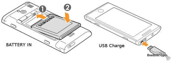 Samsung Omnia 7 GT-I8700 Assemble Compartment Charge Battery