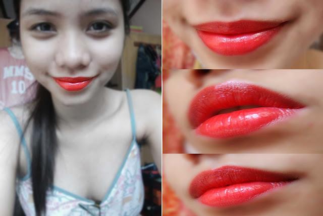 Nyx Peach Bellini Lipstick Swatch Bộ cọ Coastal Scen...