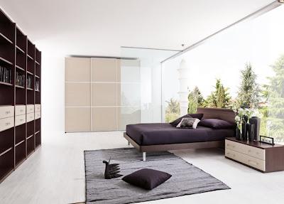 habitación moderna madera
