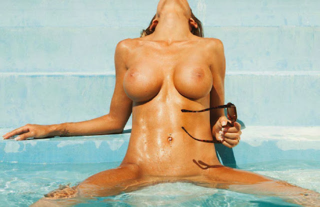 Leonela Ahumada naked boobs Playboy Argentina December 2013