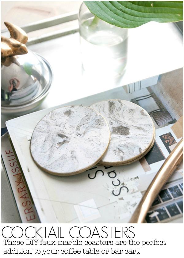 Faux Marble Decor DIY