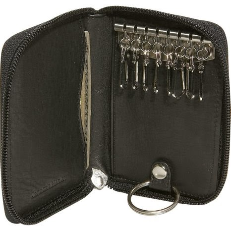 black leather key holder
