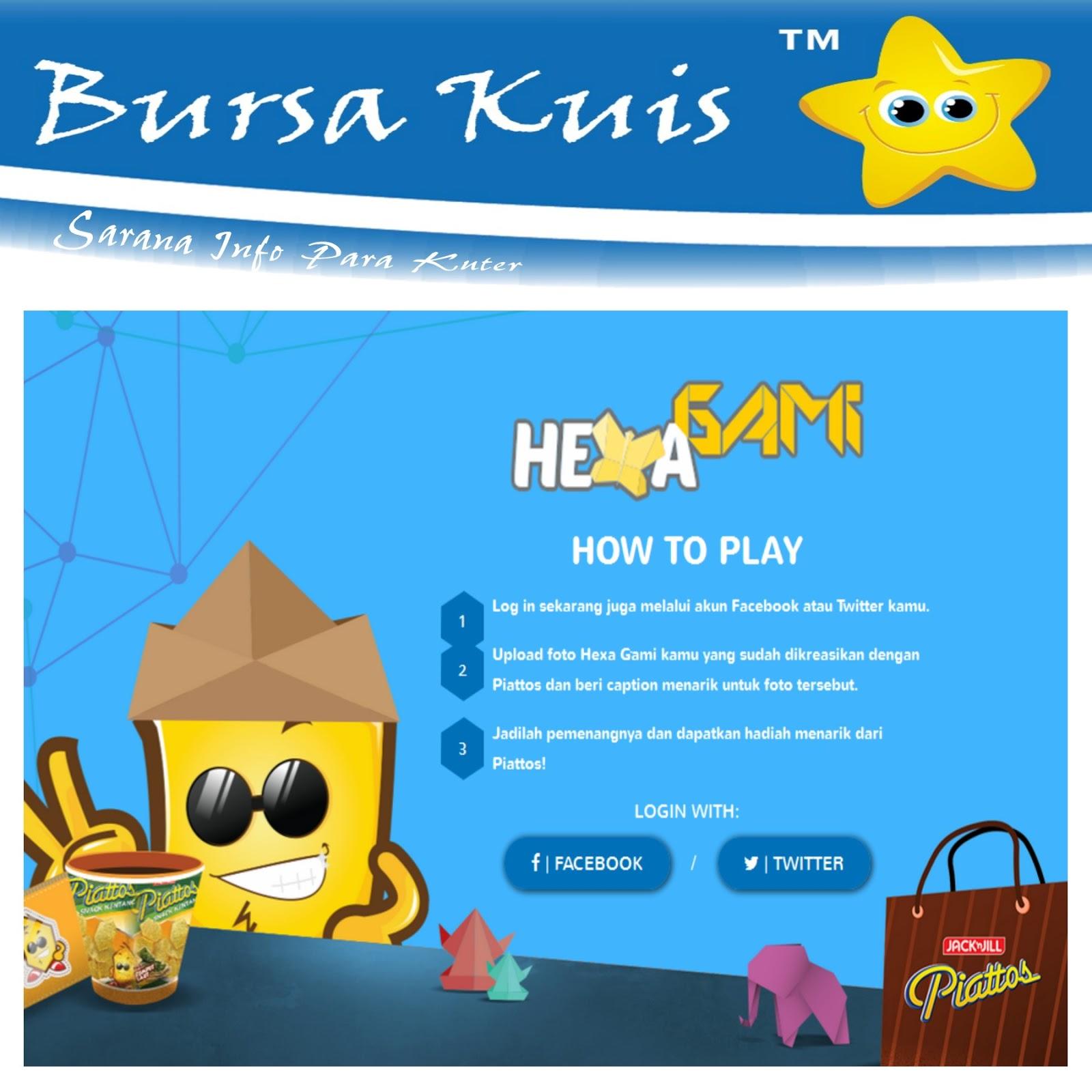 kontes foto online hexa gami piattos berhadiah gadget