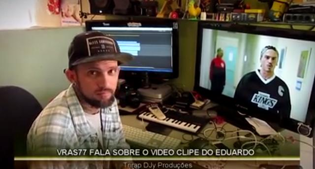 """Vrazz 77 fala sobre o clipe """"Substancia Venenosa"""" e veja algumas fotos dos bastidores do novo clipe do EDUARDO"""