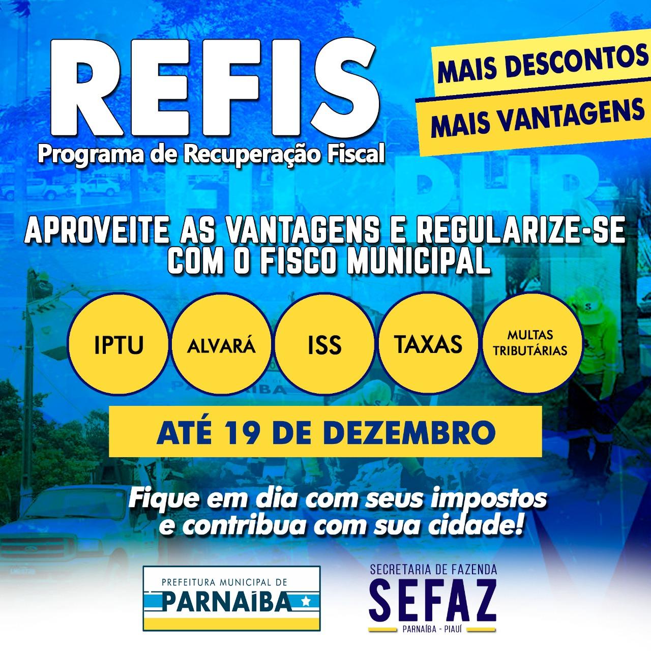 Programa de refinanciamento de dívidas junto a Prefeitura Parnaíba encerra em 19 de dezembro