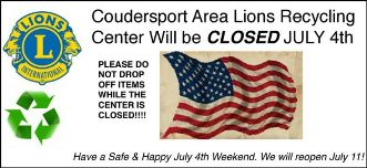 7-4 Coudersport Recycling Closed
