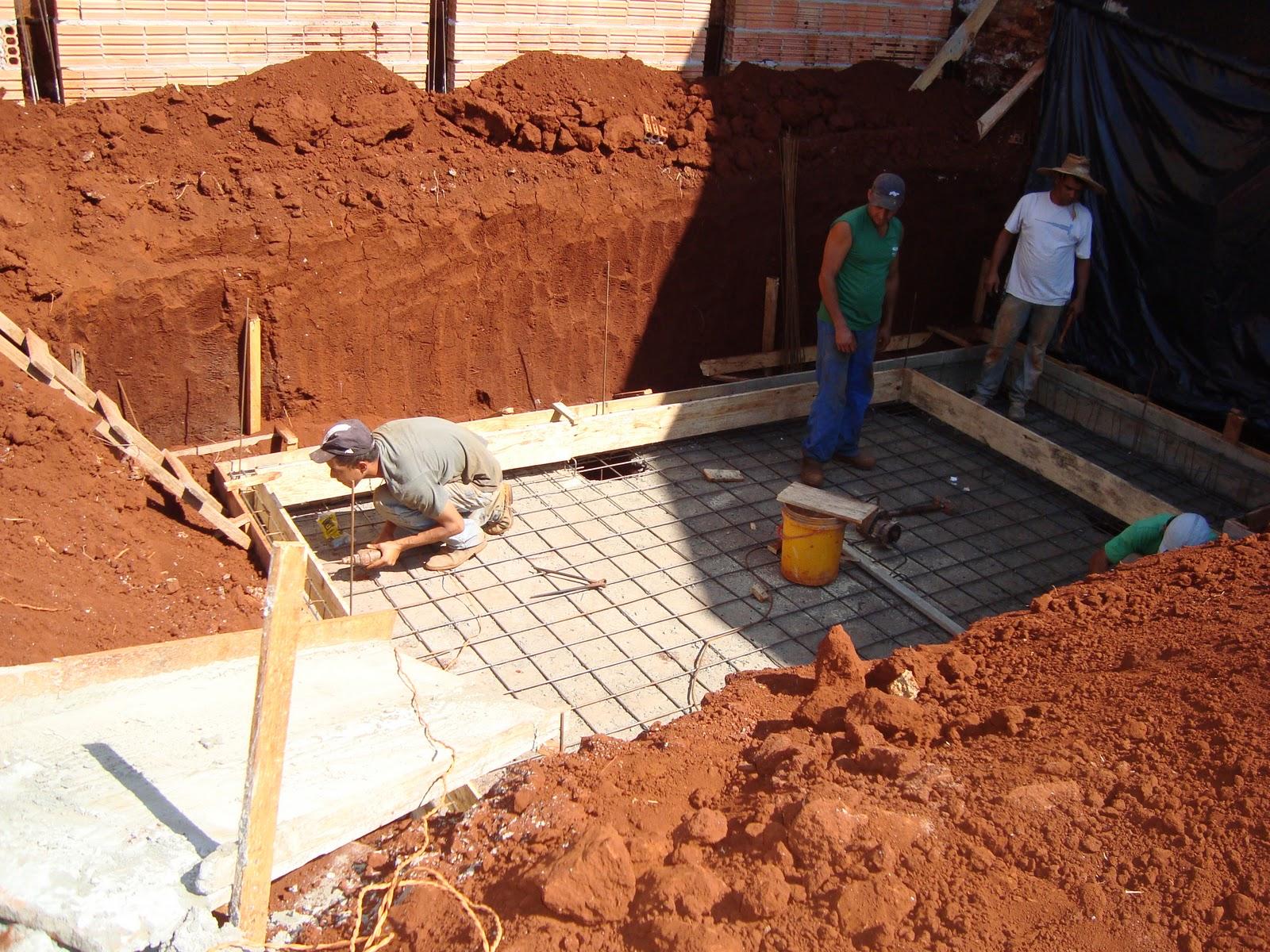 Construindo nosso lar piscina 1a fase for Como construir una piscina en concreto