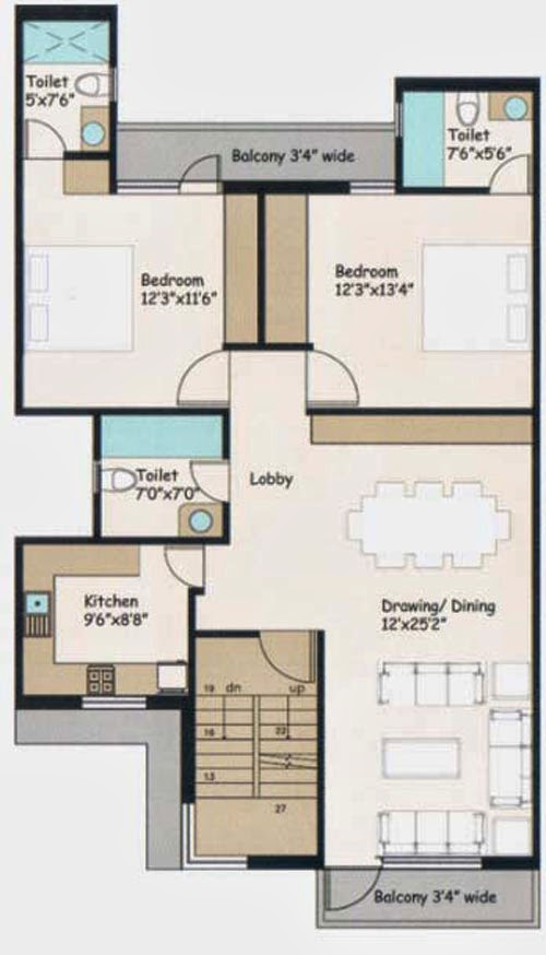 Wave City Floor Plan 1