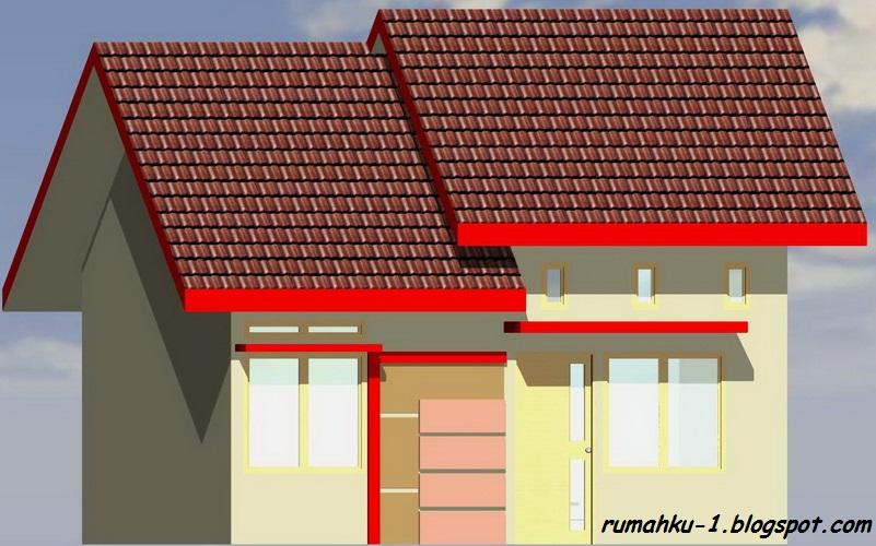 rumahku 1 denah desain rumah minimalis type 38 78