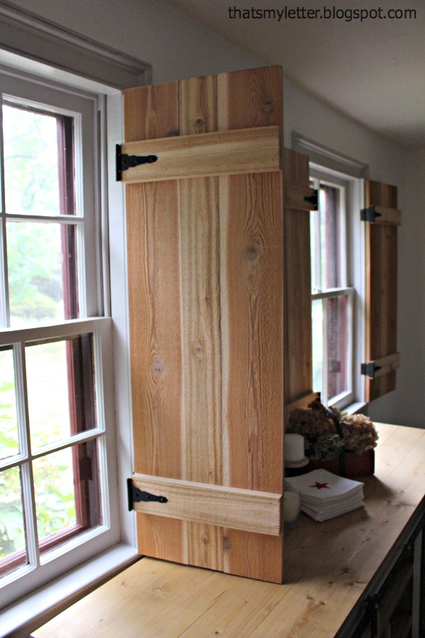 I is for interior cedar shutters that 39 s my letter - How to make interior window shutters ...