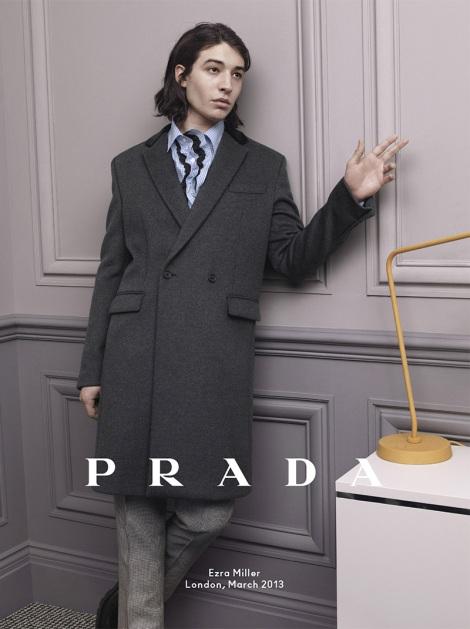 Ezra Miller for Prada Fall Campaign