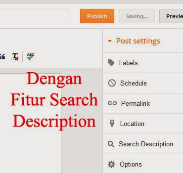 halaman new post dengan search description