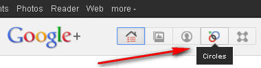 Google+ Circles: Menu Link