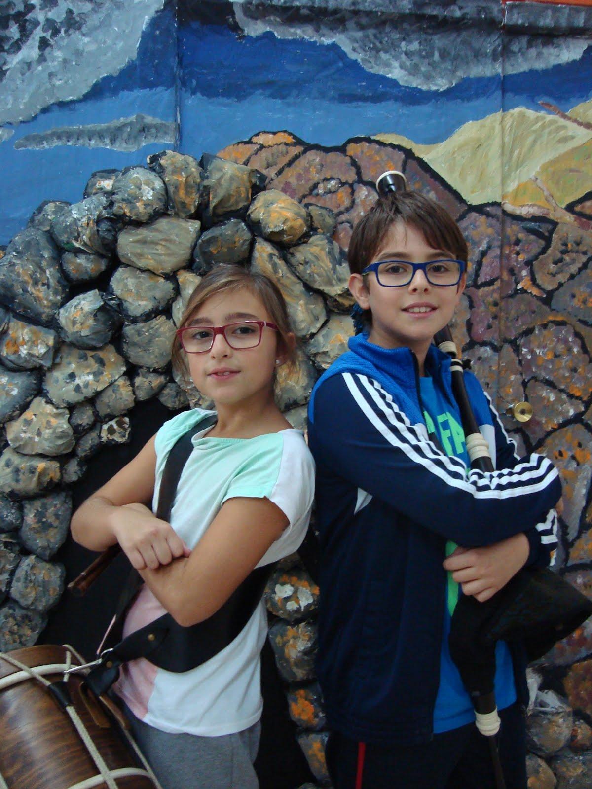 Martín e Irene de 6ºB no LUAR