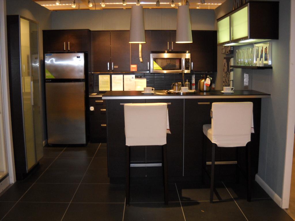 IKEA Gnosjo Black Kitchen Cabinets